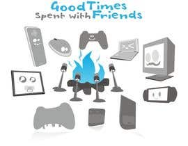 #41 for Gaming theme t-shirt design wanted – Good Times Spent with Friends by epeslvgry