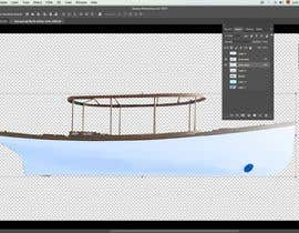 #5 for Color render an existing boat hull from a digital photo af gerardolamus