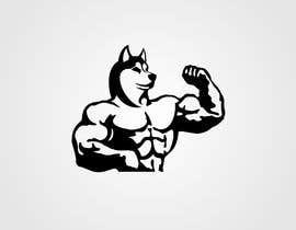 nº 9 pour Illustration of a huskie dog with muscles par tahsinnihan