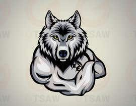 nº 10 pour Illustration of a huskie dog with muscles par gtsaw