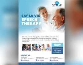 Nro 36 kilpailuun Design a Flyer for a Speech Therapy Company käyttäjältä wastudesign