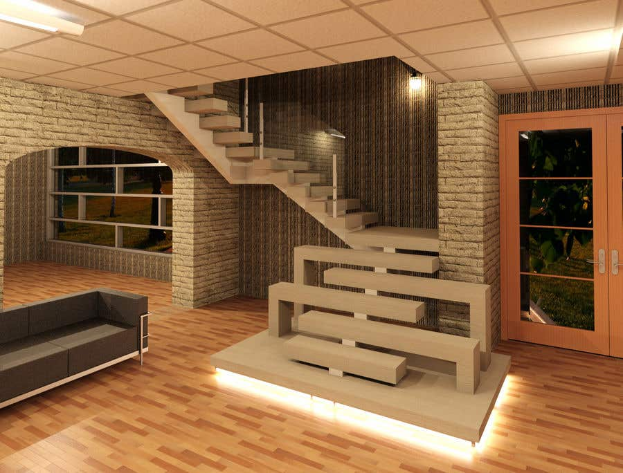 Entry 3 By Dzine2019 For Interior Design Entry Hall Private House Stairway Freelancer