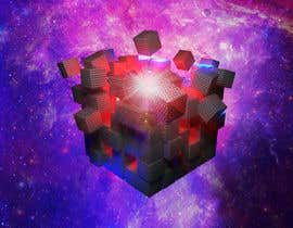 #17 for I need a exploding sci-fi cube in space by DoctorRomchik