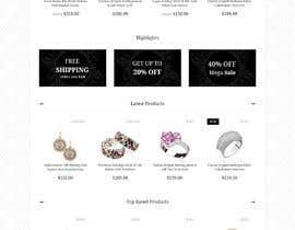 DevAb님에 의한 Design (not build) me a website for a Jewellery Company을(를) 위한 #6