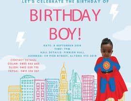 #17 для I need an inviation card design for my son's first Birthday от FALL3N0005000