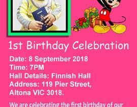 #14 для I need an inviation card design for my son's first Birthday от himelhowlader121