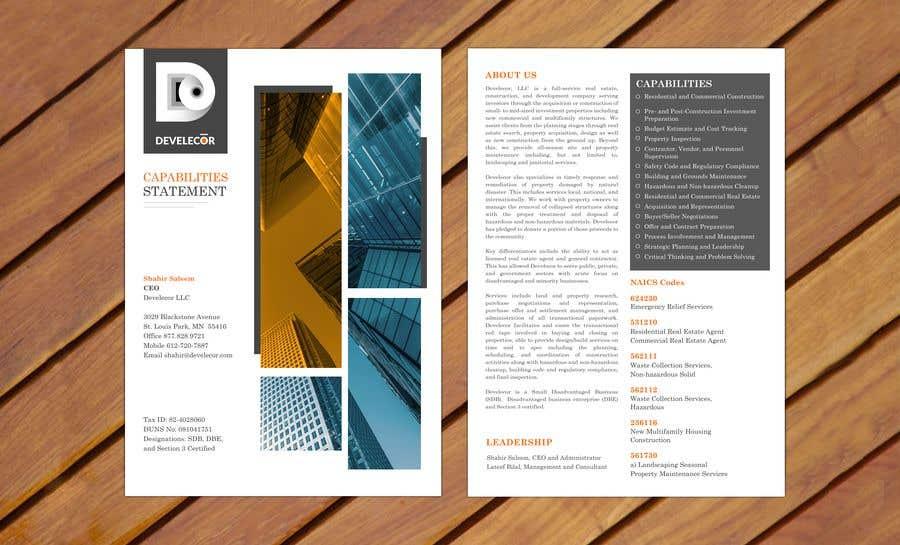 Penyertaan Peraduan #23 untuk Corporate Capability Statement