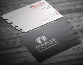 nº 37 pour Business Card Design for Pinnacle Property Group - POTENTIAL LONG-TERM EMPLOYER par creationz2011