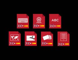 #17 cho Set of 7 Icon Illustrations needed for online-shop (language learning related) bởi Tamal28