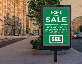 #33 untuk Use different font (your discretion) than the bold text SEL logo to better contrast for a 2' x 3' real estate sign with a 2' triangle on the bottom to resemble a text message bubble. oleh milykhan62
