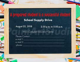 #26 for School Supply Drive Flyer Design for Teachers/Students af Shtofff