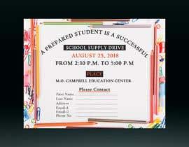 #44 for School Supply Drive Flyer Design for Teachers/Students af hafijurgd