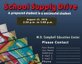 #43 for School Supply Drive Flyer Design for Teachers/Students af NIshokHimel