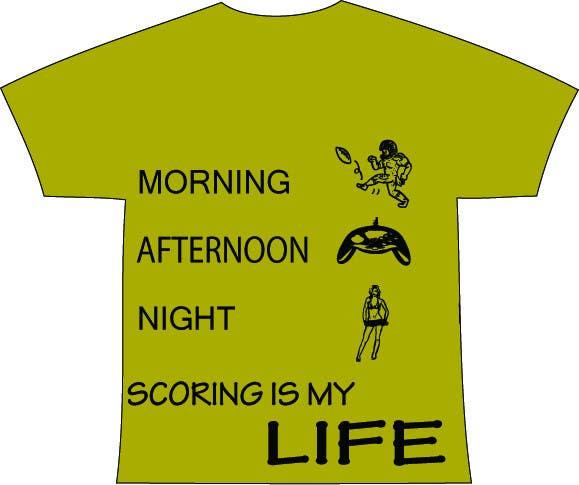 Inscrição nº 71 do Concurso para Gaming and scoring theme t-shirt design wanted