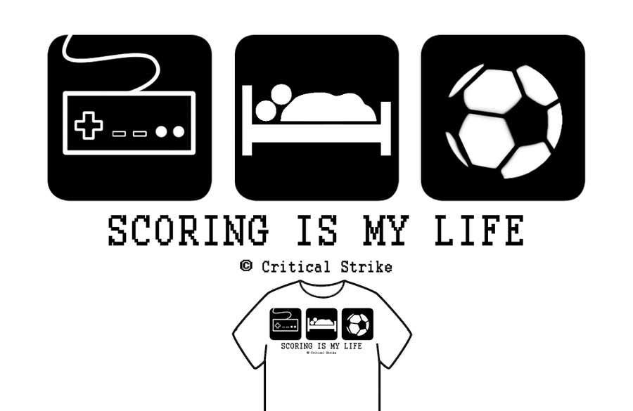 Inscrição nº 6 do Concurso para Gaming and scoring theme t-shirt design wanted