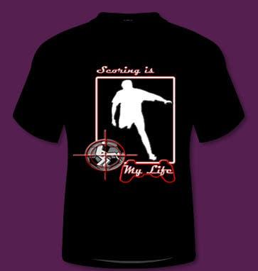 Inscrição nº 115 do Concurso para Gaming and scoring theme t-shirt design wanted