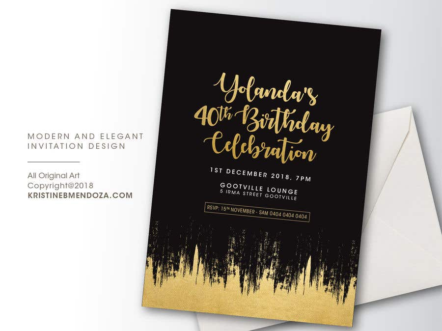 Contest Entry 11 For 40th Birthday Invitation