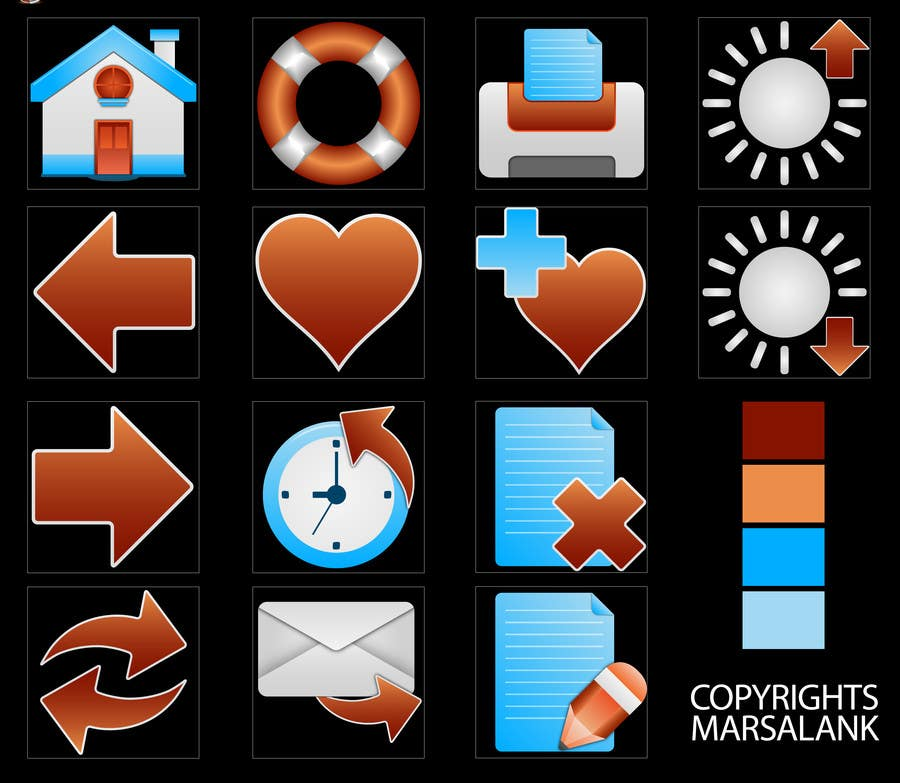 Proposition n°                                        16                                      du concours                                         Icon or Button Design for I4 Web Browser Icons