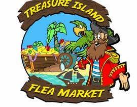 Nro 71 kilpailuun Create a Mascot and logo for indoor flea market Treasure island Flea Market käyttäjältä ToaMota