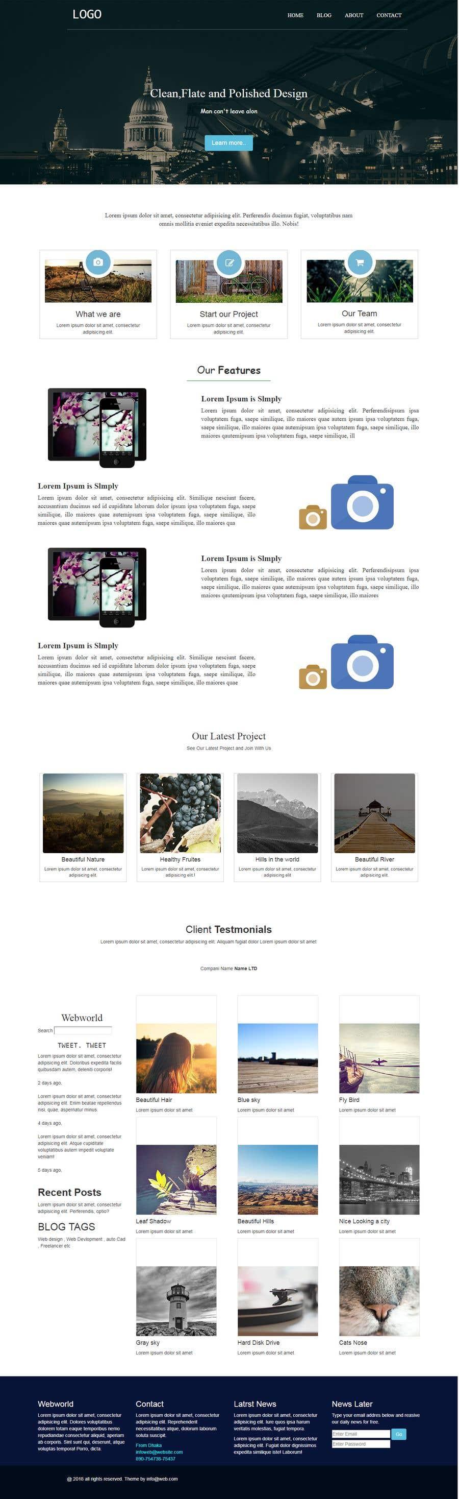 Proposition n°3 du concours Design 1 Page site and login area