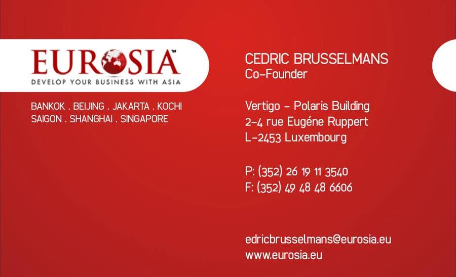 Bài tham dự cuộc thi #                                        12                                      cho                                         Business Card Design for www.eurosia.eu