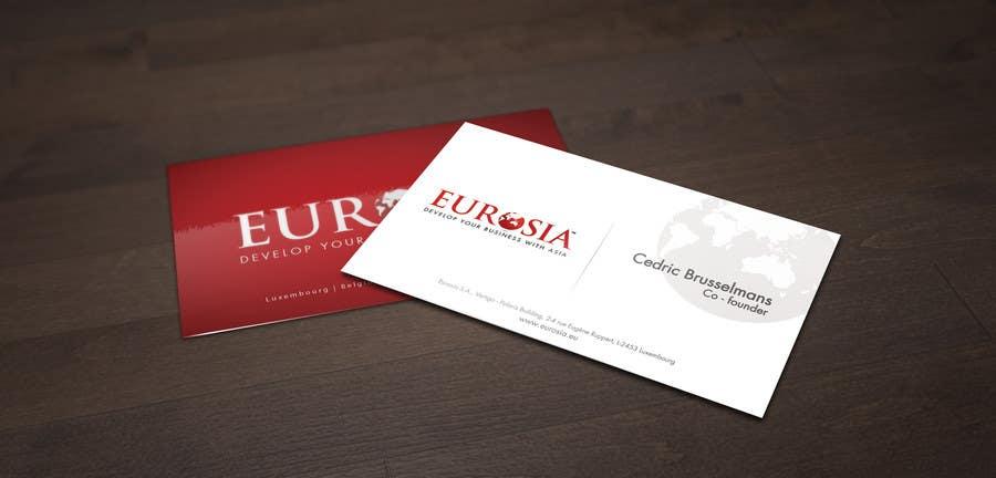 Kilpailutyö #                                        67                                      kilpailussa                                         Business Card Design for www.eurosia.eu