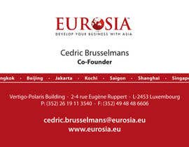 #23 para Business Card Design for www.eurosia.eu por oxonia