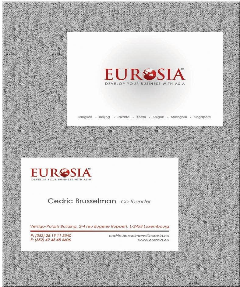 Kilpailutyö #                                        71                                      kilpailussa                                         Business Card Design for www.eurosia.eu