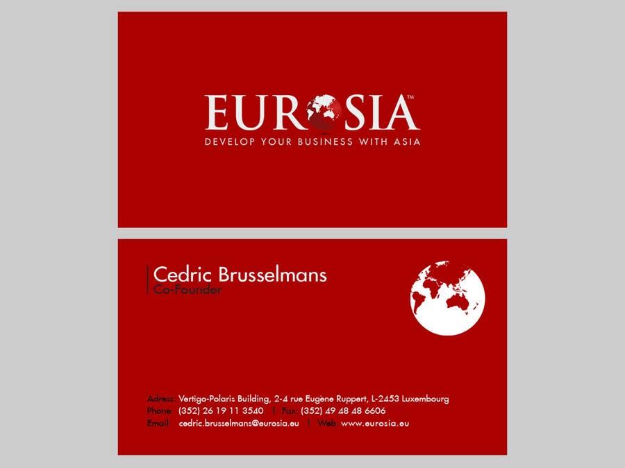 Bài tham dự cuộc thi #                                        83                                      cho                                         Business Card Design for www.eurosia.eu