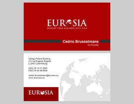 #86 para Business Card Design for www.eurosia.eu por milanche037