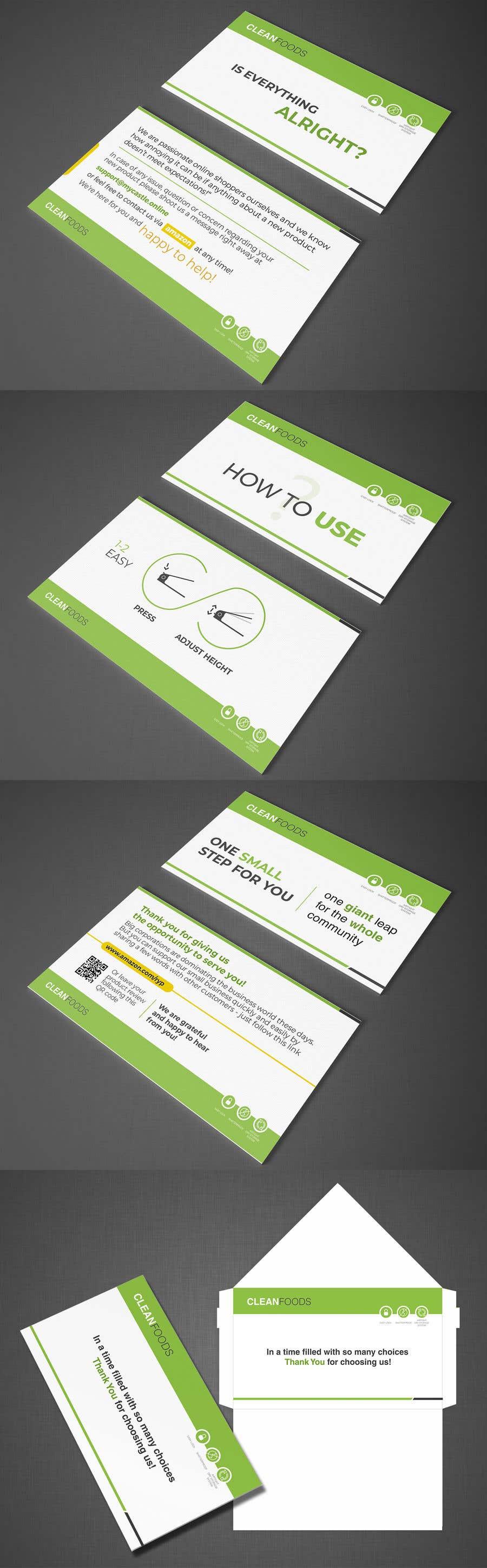 Participación en el concurso Nro.25 para 3x INSERT CARDS + ENVELOPE DESIGN needed for e-commerce packaging