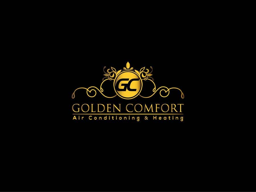 "Contest Entry #9 for I need help designing a logo for my air conditioning business. Currently the logo is my dog. The name of my company being ""Golden Comfort Air conditionjng an Heating"". Contact me if you have any more questions. Thanks."