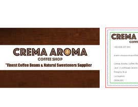 #10 for Business Card for Crema Aroma Coffee Shop by aperez398