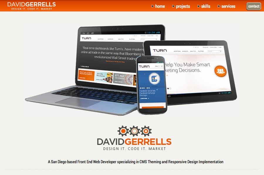 Inscrição nº 56 do Concurso para Logo Design for David Gerrells Web