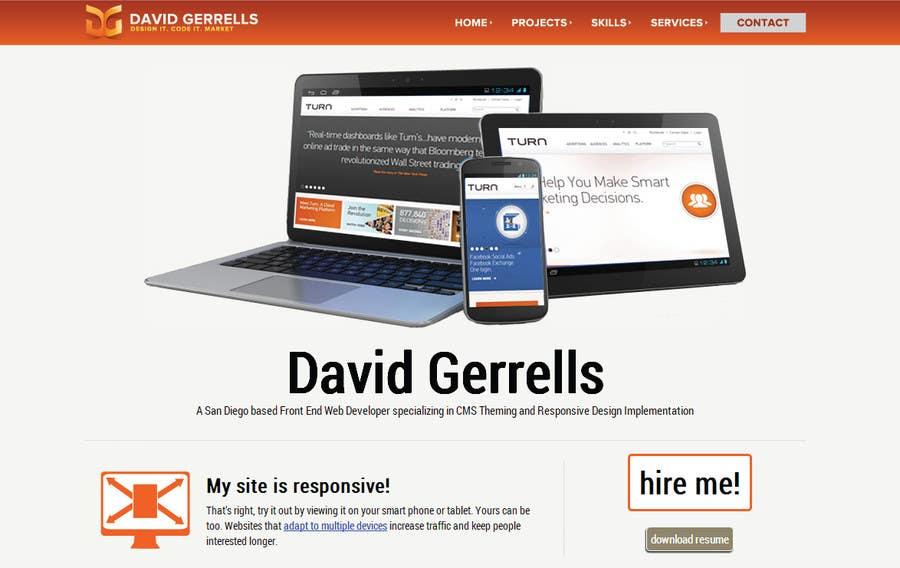 Inscrição nº 55 do Concurso para Logo Design for David Gerrells Web