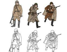 nº 9 pour Draw Soldiers WW2 for a board game counter par berragzakariae