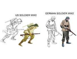 nº 10 pour Draw Soldiers WW2 for a board game counter par bucekcentro
