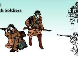 nº 18 pour Draw Soldiers WW2 for a board game counter par pmanage