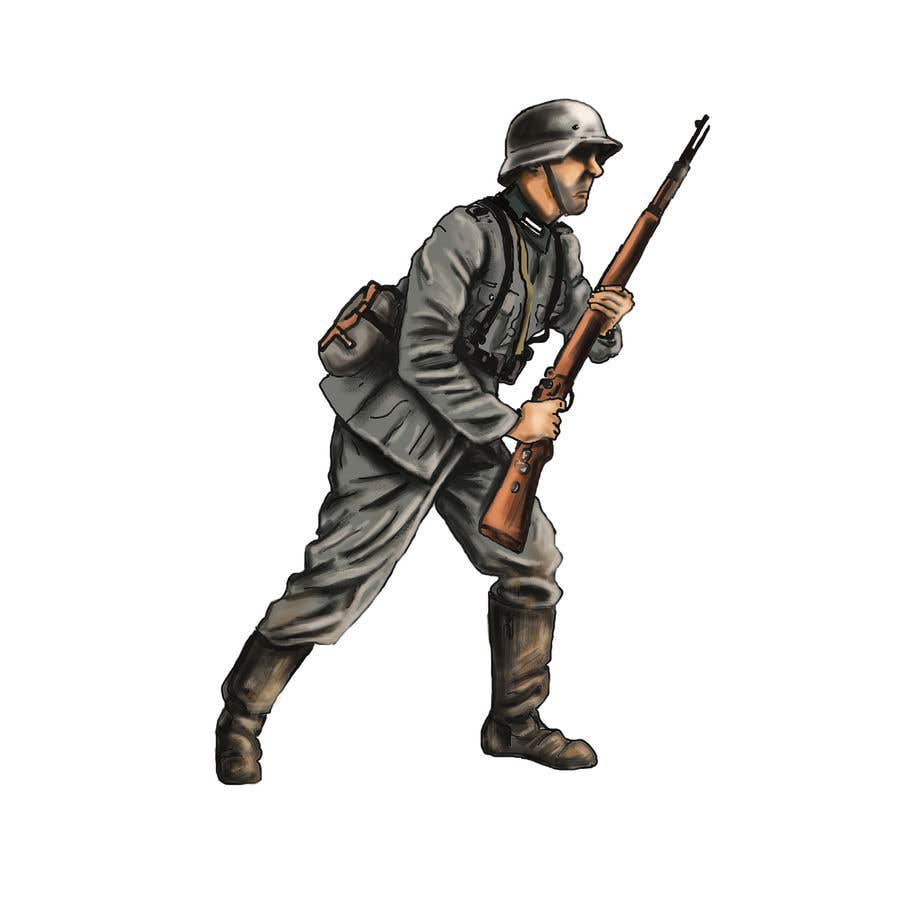 Entry #21 by petedashford for Draw Soldiers WW2 for a board game