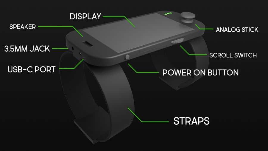 Inscrição nº 8 do Concurso para Futuristic Wrist Mounted Computer Wearable for Action Sports