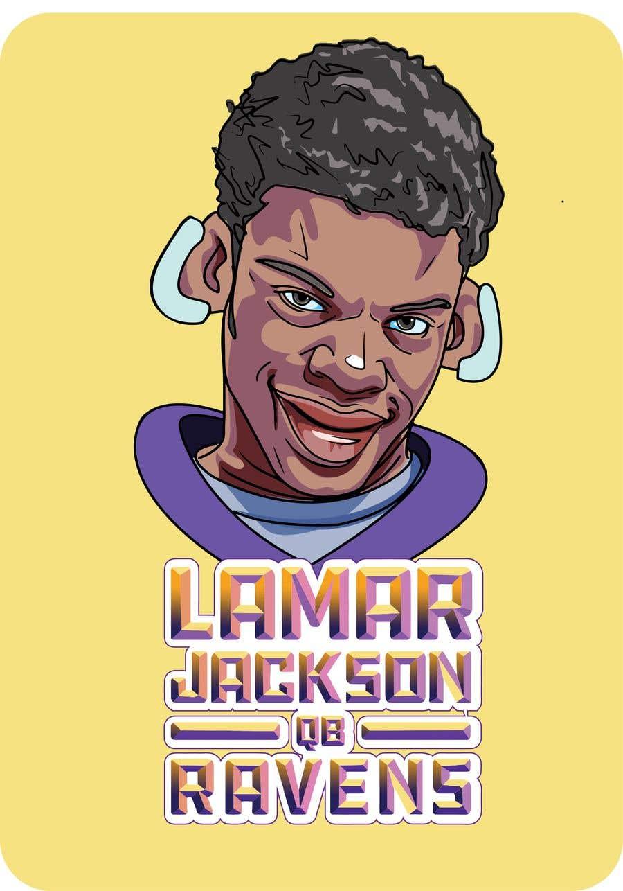 Konkurrenceindlæg #19 for Lamar Jackson 8 Logo Tshirt