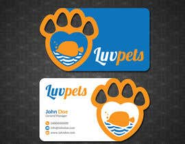 #56 pentru Create Business cards for Pet business de către papri802030