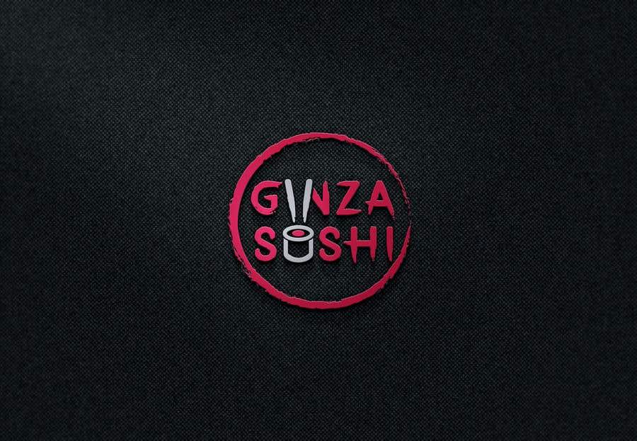 Συμμετοχή Διαγωνισμού #69 για Logo design for new restaurant. The name is Ginza Sushi.   We are looking for classy logo with maroon, Black and touches of silver (silver bc of the meaning). Would also like a brushstroke look but a highly visible name.