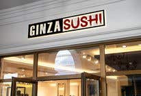 Graphic Design Συμμετοχή Διαγωνισμού #106 για Logo design for new restaurant. The name is Ginza Sushi.   We are looking for classy logo with maroon, Black and touches of silver (silver bc of the meaning). Would also like a brushstroke look but a highly visible name.