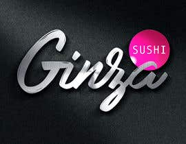 #92 for Logo design for new restaurant. The name is Ginza Sushi.   We are looking for classy logo with maroon, Black and touches of silver (silver bc of the meaning). Would also like a brushstroke look but a highly visible name. by spybluear