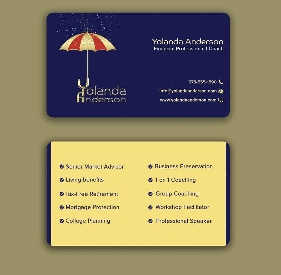 Penyertaan Peraduan #118 untuk Design Insurance Salesman Business Cards