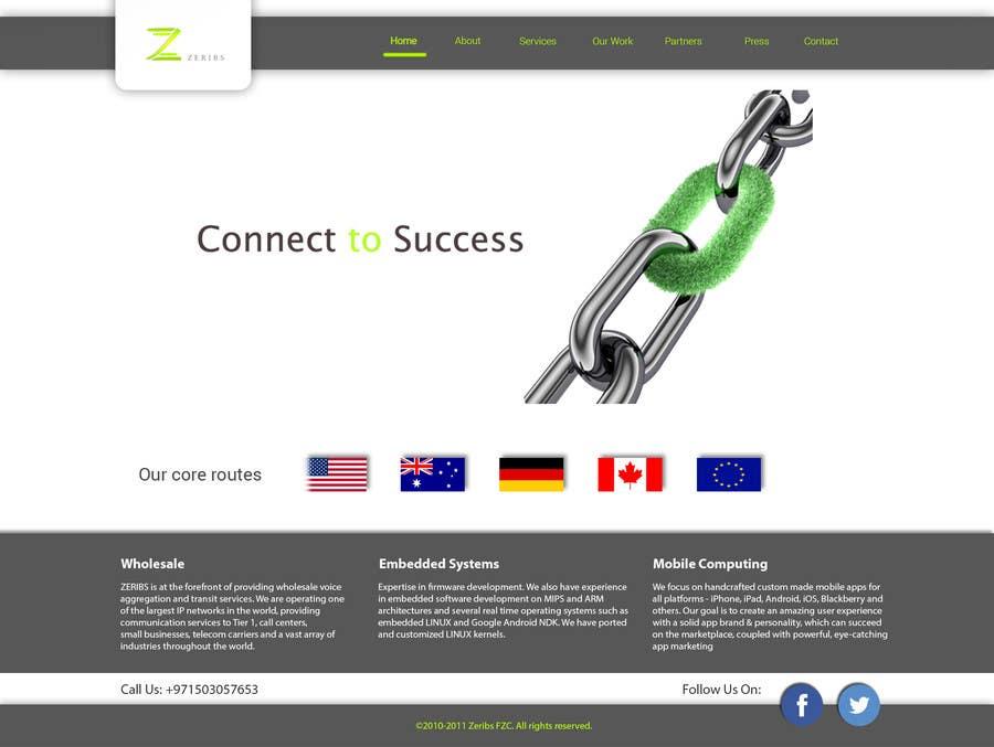 Konkurrenceindlæg #                                        5                                      for                                         Home page design