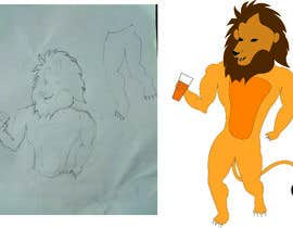 #39 for I want a cartoon lion drinking a beer glass by Venkatvenki774