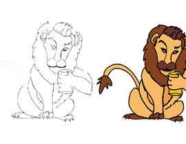 #32 for I want a cartoon lion drinking a beer glass by sandy4990