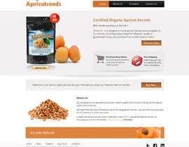 #15 untuk Graphic Design - Redesign FRONT PAGE Only - apricotseeds.co.nz website oleh Pavithranmm